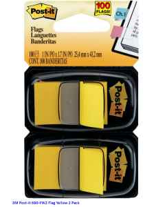Jual 3M Post-it 680-YW2 Flag Yellow 2 Pack Harga Murah dan Lengkap