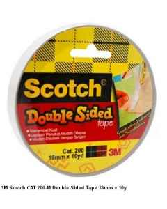 Jual 3M Scotch CAT 200-M Double-Sided Tape 18mm x 10y Harga Murah dan Lengkap