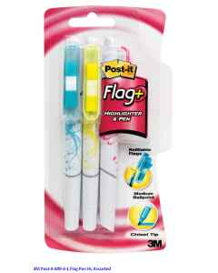 Jual 3M Post-it 689-3-1 Flag Pen HL Assorted Harga Murah dan Lengkap