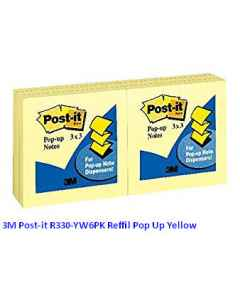 Jual 3M Post-it R330-YW6PK Reffil Pop Up Yellow Harga Murah dan Lengkap