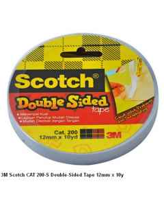 Jual 3M Scotch CAT 200-S Double-Sided Tape 12mm x 10y Harga Murah dan Lengkap