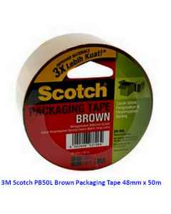 Jual 3M Scotch PB50L Brown Packaging Tape 48mm x 50m Harga Murah dan Lengkap