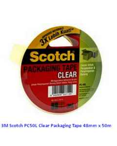 Jual 3M Scotch PC50L Clear Packaging Tape 48mm x 50m Harga Murah dan Lengkap